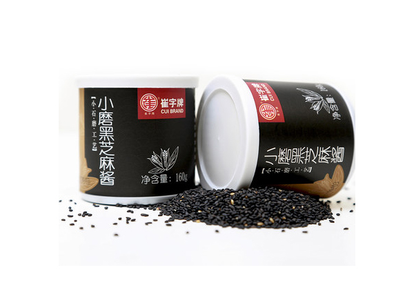 Cui plate without adding pure black sesame sauce 160g iron drum
