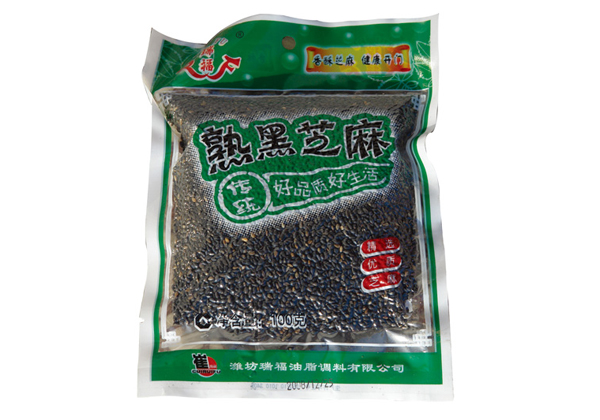 Ruifu brand no added no dyed cooked black sesame 100g