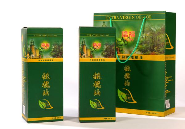 Ruifu brand high quality virgin olive oil gift box 500mlx2 bottle