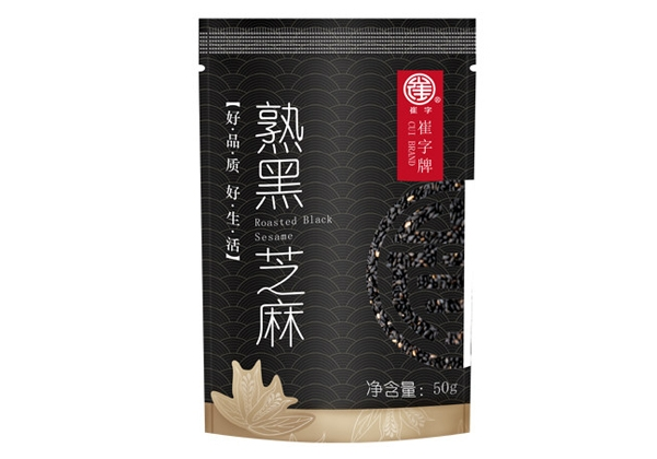 Cui plate no added without dyeing 50g cooked black sesame