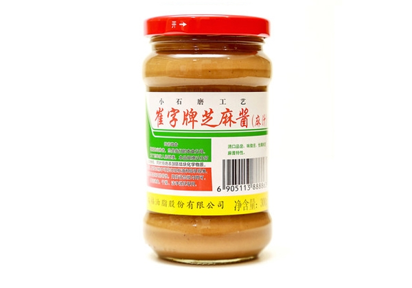 Cui plate without adding pure white sesame sauce 300g glass bottle