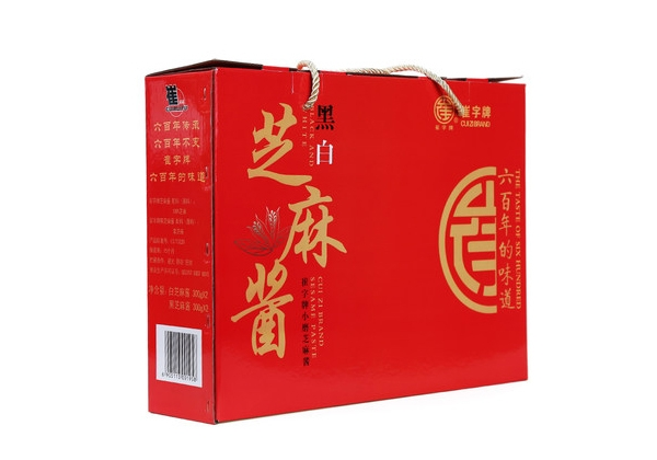 Cui plate without adding small mill black and white sesame sauce gift box 33g4 bottle