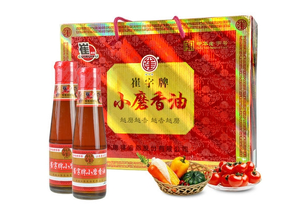 Cui plate without adding pure white sesame oil gift box 218mlx4 bottle