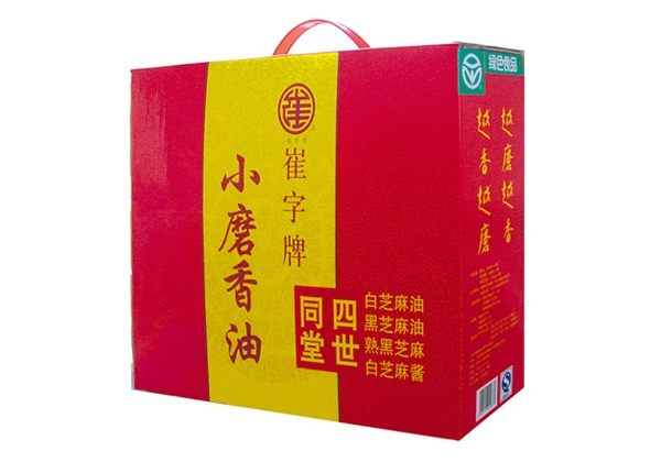 Cui plate without added sesame oil sesame sauce sesame four family gift box