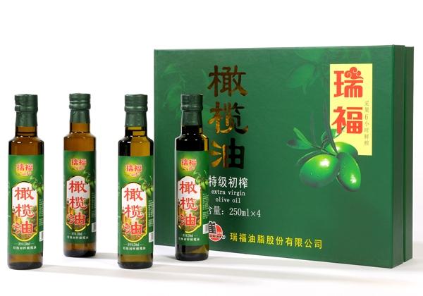 Ruifu brand high quality virgin olive oil gift box 250mlX4 bottle