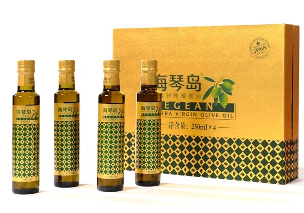 Haiqin Island Premium Extra Virgin Olive Oil Gift Box 250mlx4 Bottle