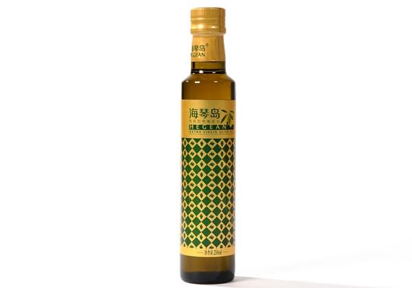 Haiqin Island high quality virgin olive oil 250ml glass bottle